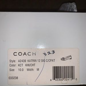 Coach Leather and Logo Loafers with Brass